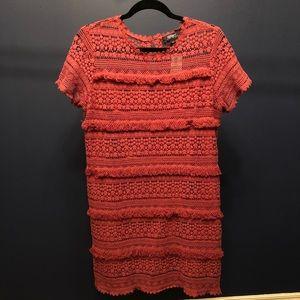NWT Anthropologie Fringe Shift Dress